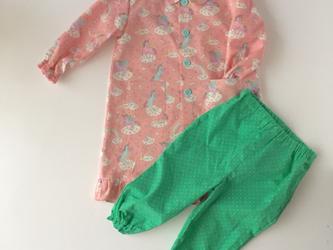 肌に優しい綿のパジャマ【1歳〜2歳】ペガサス×greenの画像