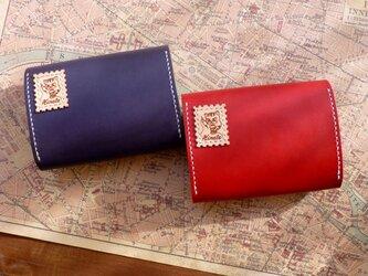 本ヌメ革 ファスナー付き財布(赤)の画像