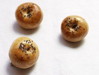 パンのブローチ(チョコあんパン)の画像