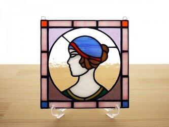 ステンドグラス ミニパネル ポートレイト 15cmの画像