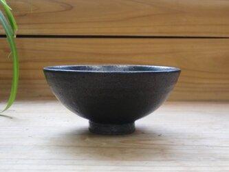 黒マット釉 ごはん茶碗       その1の画像