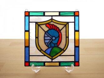 ステンドグラス ミニパネル ナイト 15cmの画像