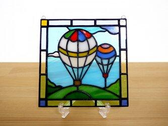 ステンドグラス ミニパネル バルーン 15cmの画像
