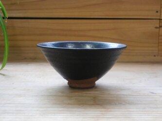 黒マット釉 ごはん茶碗  の画像