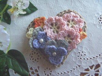 <sold>ハートの花園♪桜、パンジー、菜の花★の画像