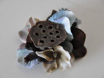 お花のマグネット(ブルーあじさい)の画像