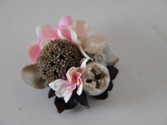 お花のマグネット(ピンクあじさい)の画像