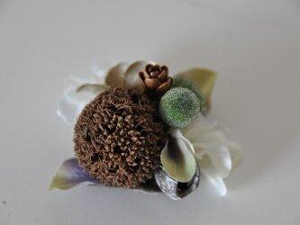 お花のマグネット(グリーン白)の画像