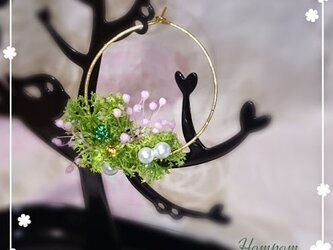 春・お花畑ループピアス2 ホムポムの画像