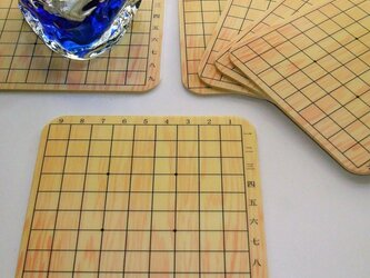 将棋盤のコースター♪の画像