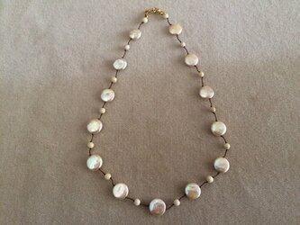 コインパールのネックレスの画像