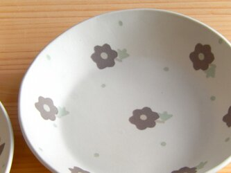 小花模様の深皿Cの画像