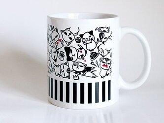 受注生産!! 猫マグカップ『モノクロ』の画像