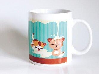 受注生産!! 猫マグカップ『ミルク』の画像