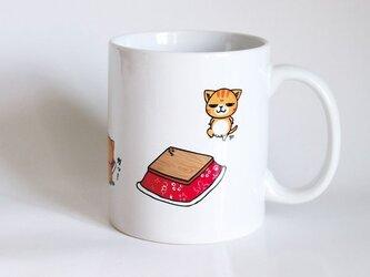 受注生産!! 猫マグカップ『おこた』の画像