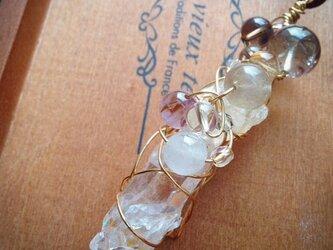 水晶三昧ワンド型ネックレスの画像