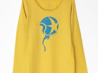 ☆のヘルメットTシャツLady`s yellow×blueの画像