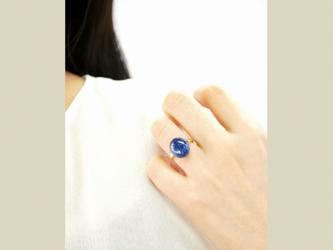 再販】フリーサイズ★ラウンド・カイヤナイトリングの画像