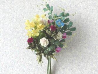早春 野の草花ブーケ * シルクデシン製 ほか * コサージュの画像