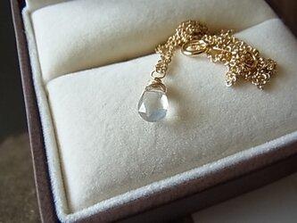 14KGF宝石質セイロンムーンストーンネックレスの画像