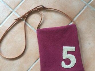 ヴィンテージ風帆布のminiショルダーバッグ ボルドーの画像