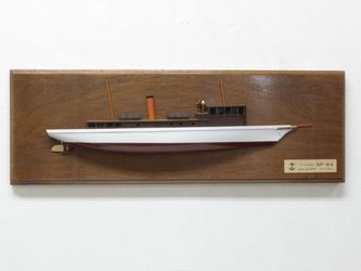 アンティーク調ハーフハルモデルシップ パトロールボート コヨーテの画像