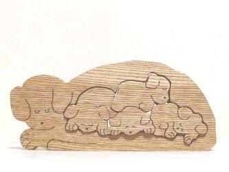 眠り犬(切抜き)の画像