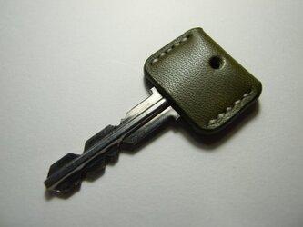 オリーブのキーカバー 白ステッチの画像