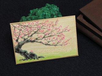 日本画カルタ「臥龍梅」(がりょうばい)の画像