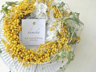 シンプルな花のwreath-mimosa-の画像