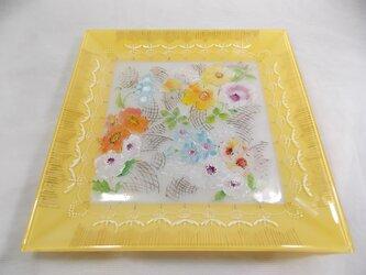 華やかお花の角皿26センチの画像