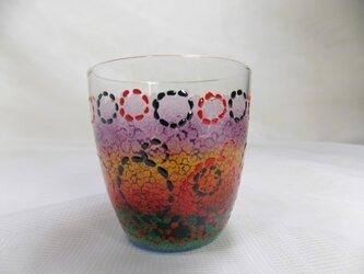 もりもりサークルドットとお花のミニグラスの画像