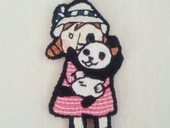 パンダを抱っこ(バッグチェーン)の画像