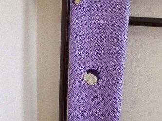江戸紫絞りの粋なスヌード 絹の画像