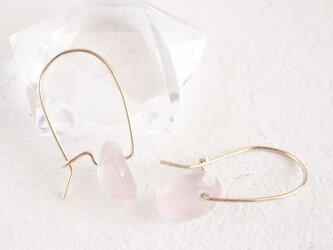 14KGF Brilliant Rosequartz Earringsの画像
