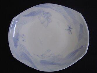 染付舟形小皿の画像