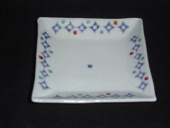 染付幾何紋お手塩皿の画像