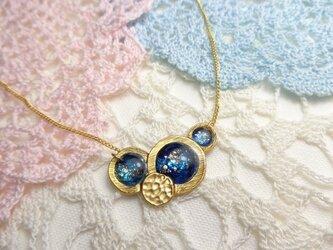 銀河のネックレス「金具の色選択可能!」の画像