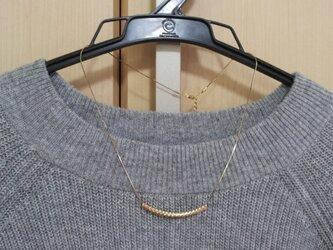ゴールドパイプのネックレスの画像