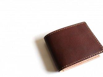 【受注生産品】二つ折り財布 ~栃木アニリン茶×栃木サドル~の画像