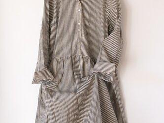 播州織のシャツワンピースの画像