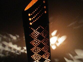 竹灯篭竹アート灯ダイア柄の画像