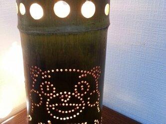 竹灯篭竹アート灯くまモンの画像