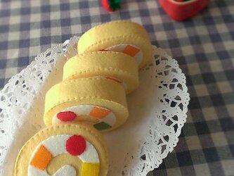 ロールケーキのおもちゃの画像