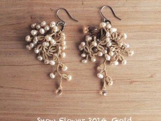 受注*Pierces, Snow Flower2014_goldの画像