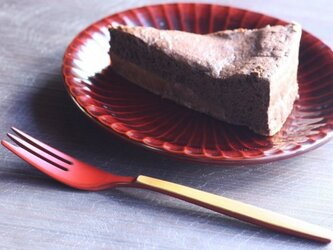 ケーキフォーク 朱の画像