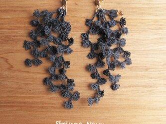 受注*Pierces,Flower strings_navyの画像