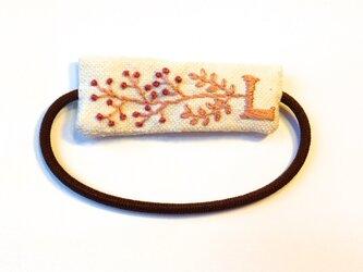 刺繍ヘアゴム・Lの画像