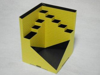 Pen-Cube(ペンキューブ)エンボス ボーダー/ イエローの画像