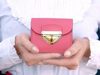 クラッチ・ミニ財布 P式パーティーレザー・ピンクの画像